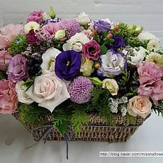 꽃바구니-핑크&화이트
