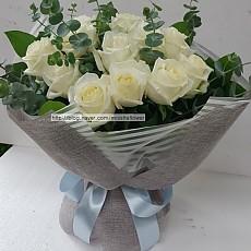 꽃다발-화이트 로즈(실속형)