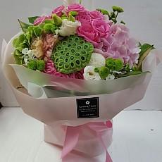 꽃다발-연밥&핑크(고급)