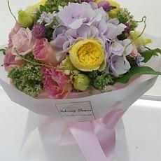 꽃다발-노랑줄리엣장미(일반)