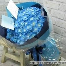 꽃다발-블루로즈(30송이)